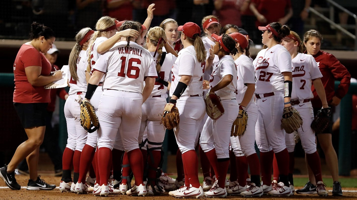 alabama softball splits saturday games in seattle - university of