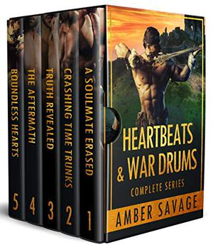 Heartbeats & War Drums Box Set Books 1 - 5: A Scottish Time Travel Romance by Amber Savage