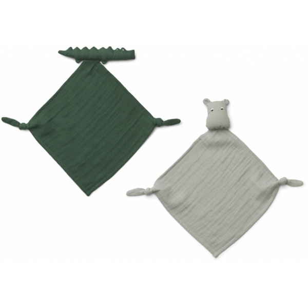 Yoko Mini Cuddle Cloth 2 Pack / Safari Green Mix