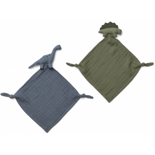 Yoko Mini Cuddle Cloth 2 Pack / Dino Blue Mix