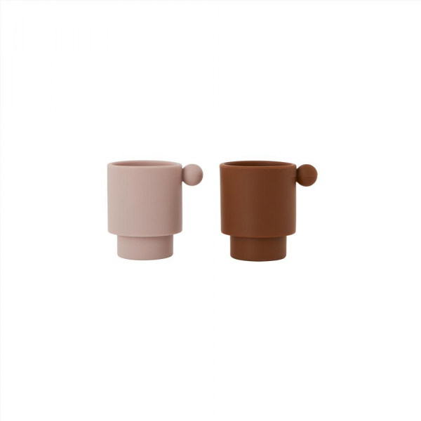 Tiny Inka Cup 2-Pack / Caramel / Rose