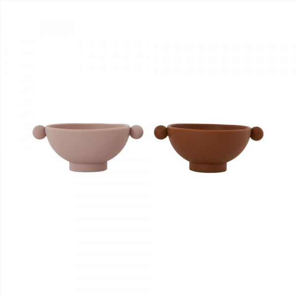 Tiny Inka Bowl 2-Pack / Caramel / Rose