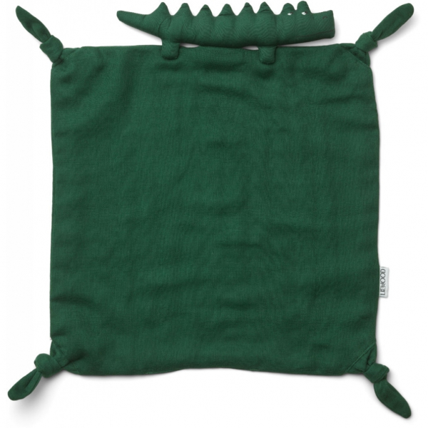 Agnete Cuddle Cloth / Crocodile Garden Green