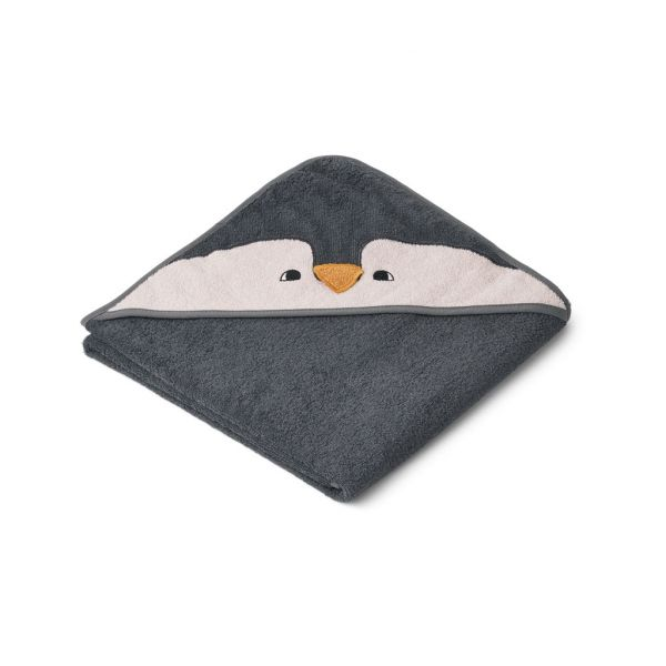 Augusta Hooded Towel / Penguin Stone Grey