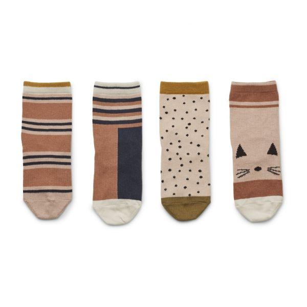 Silas Cotton Socks 4pack / Rose Multi Mix