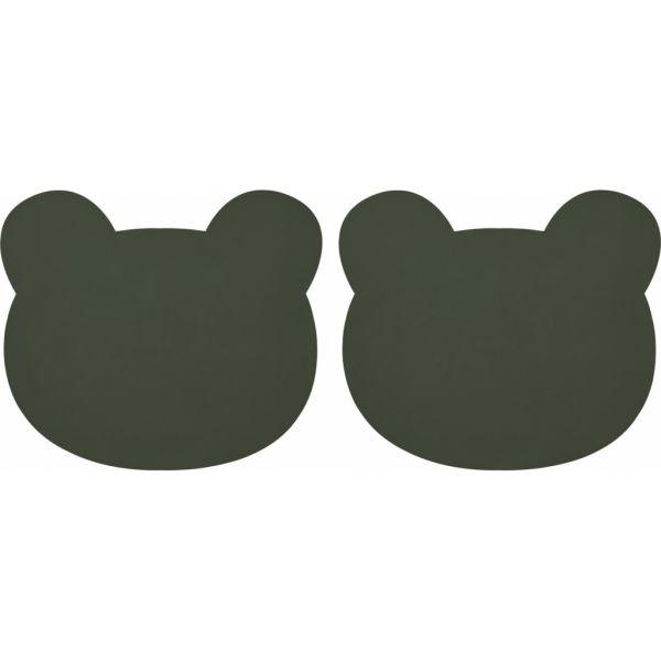 Gada Placemat 2 Pack / Mr Bear Hunter Green