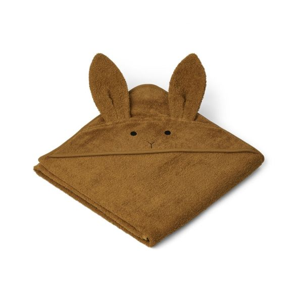 Augusta Hooded Towel / Rabbit Olive Green