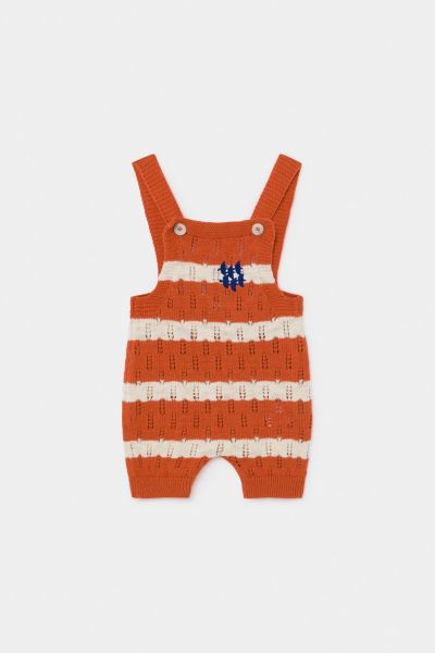 Striped Knitted Playsuit