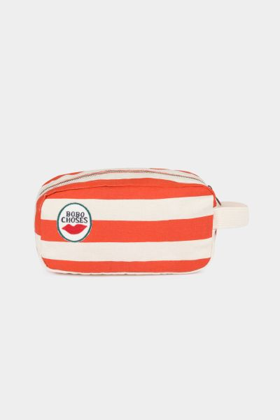 Red Stripes Pouch