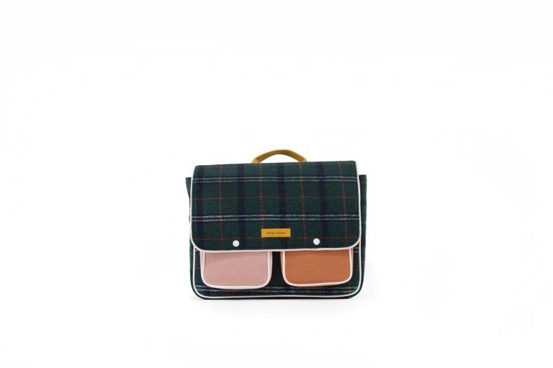 School Bag / Wanderer Forest Green Checks