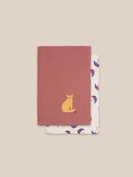 Umbrella And Cat Muslin