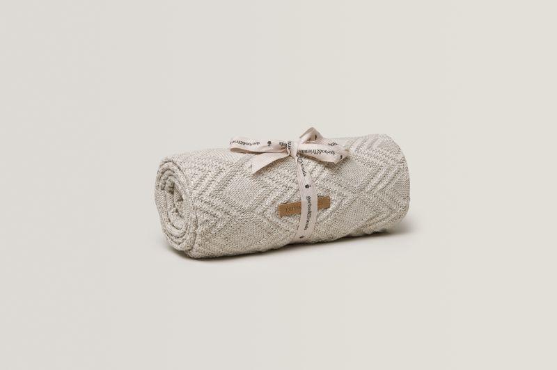 Ollie Sand Cotton Blanket
