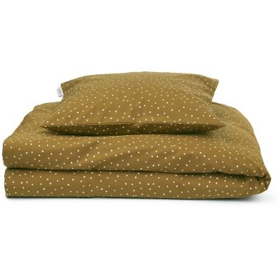 Carl Adult Bedding Print / Confetti Olive