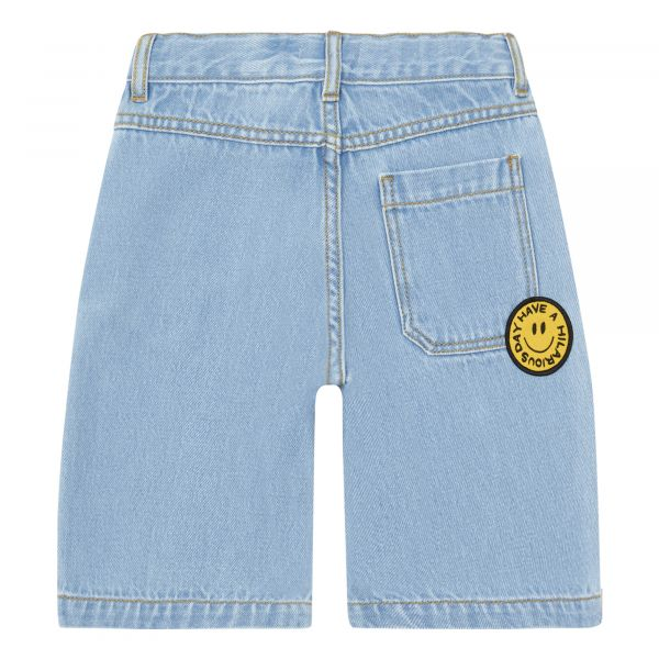Long Denim Bermuda Shorts / Denim Bleached