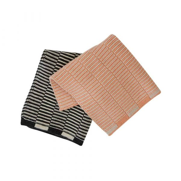Stringa Dishcloth 2 Pack / Coral Anthracite