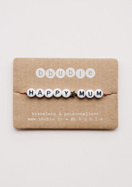 Armbandje Mama / Happy Mum - Rosé