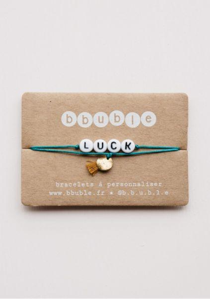 Armbandje Mama / Luck - Turquoise