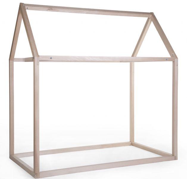 Bedframe huis naturel (90X200cm)