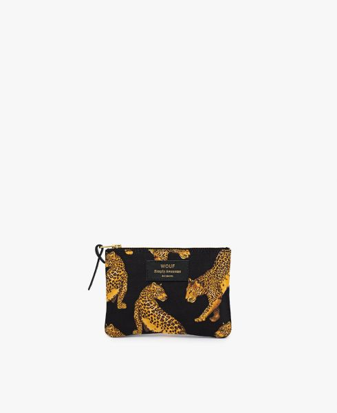 Small Pouch Bag / Black Leopard