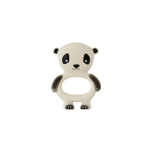 Panda Baby Teether / Offwhite - Black