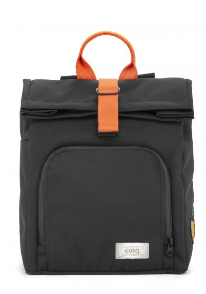 Mini Bag Canvas / Night Black - Fresh Orange