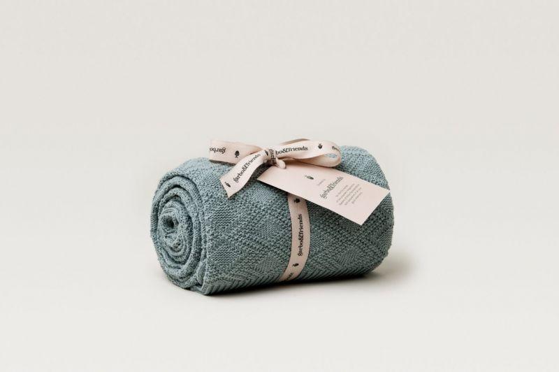 Ollie Teal Cotton Blanket