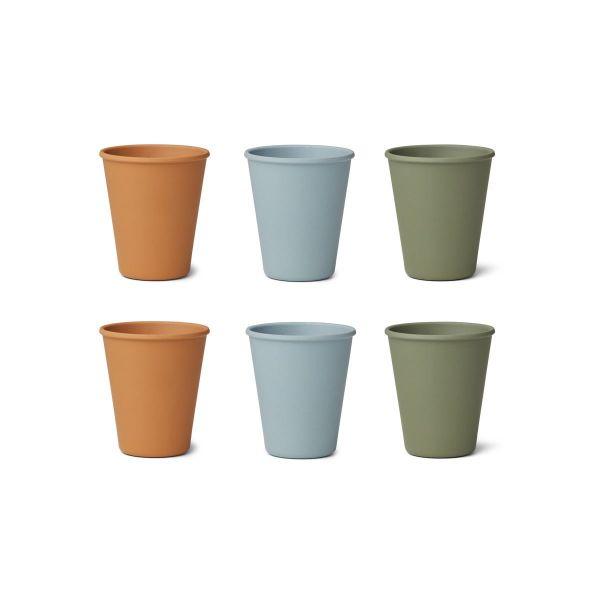 Gertrud Bamboo Cups 6 Pack - Blue Multi Mix