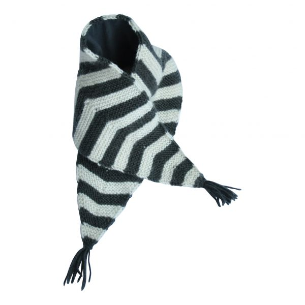 Skunk Scarf / Dark Grey