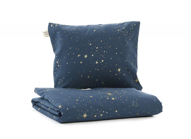 Himalaya Duvet Cover / Gold Stella - Night Blue