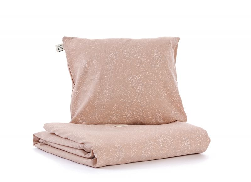 Himalaya Duvet Cover / White Bubble - Misty Pink