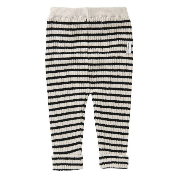 Knit Baby Pants Stripes / White / Black