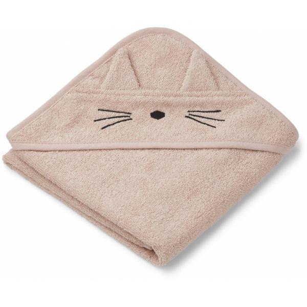 Albert Hooded Towel / Cat Rose