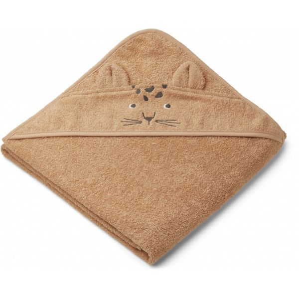 Augusta Hooded Towel / Leopard Apricot