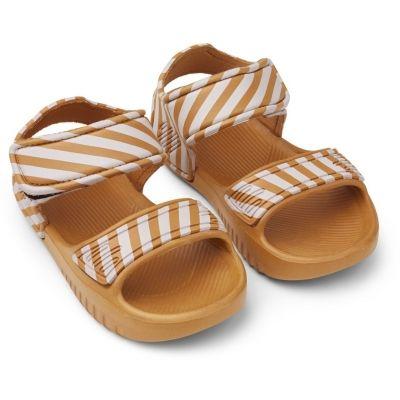 Blumer Sandals / Stripe Mustard/Creme de la Creme