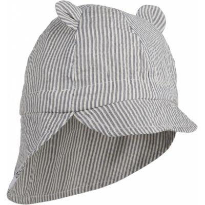 Gorm Sun Hat / Stripe Blue Wave/Creme de la Creme