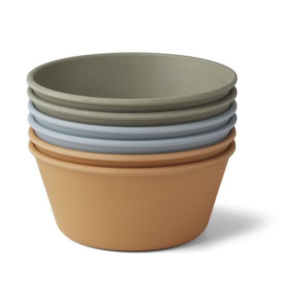 Greta Bamboo Bowl 6-Pack / Bleu Multi Mix