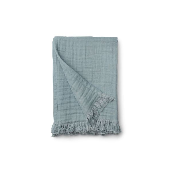 Magda Muslin Blanket / Sea Blue