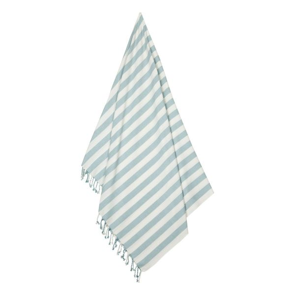 Mona Beach Towel / Stripe Sea Blue - Creme de la Creme
