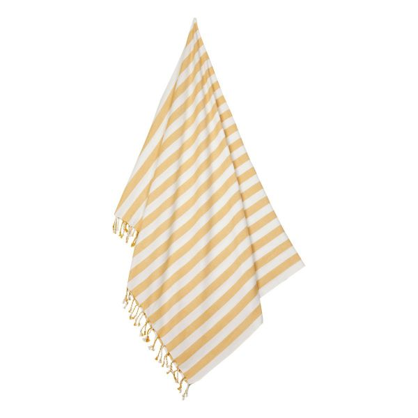 Mona Beach Towel / Stripe Yellow Mellow - Creme de la Creme