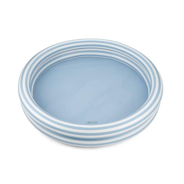 Savannah Pool / Stripe Sea Blue - Creme de la Creme
