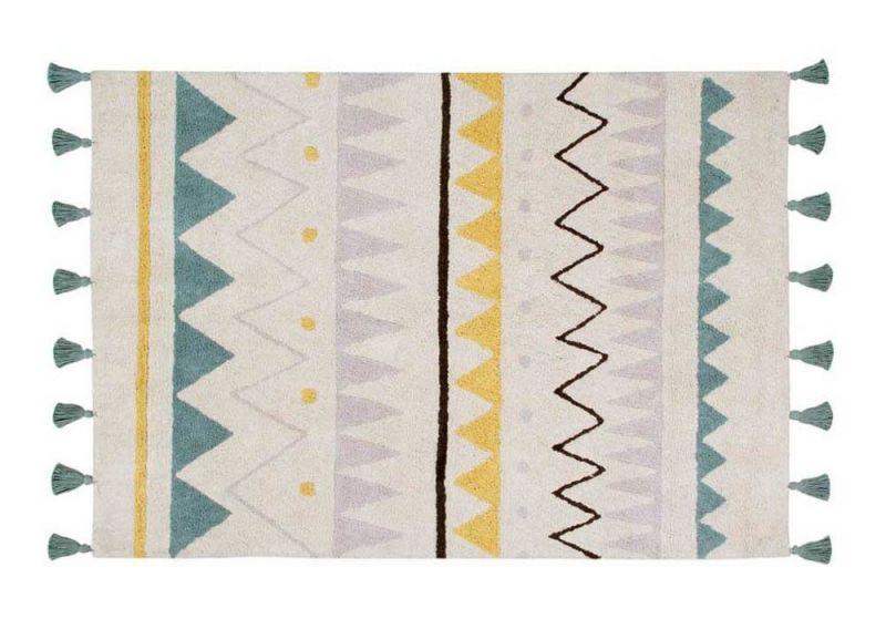 Washable Rug Azteca Natural Vintage / Blue Medium
