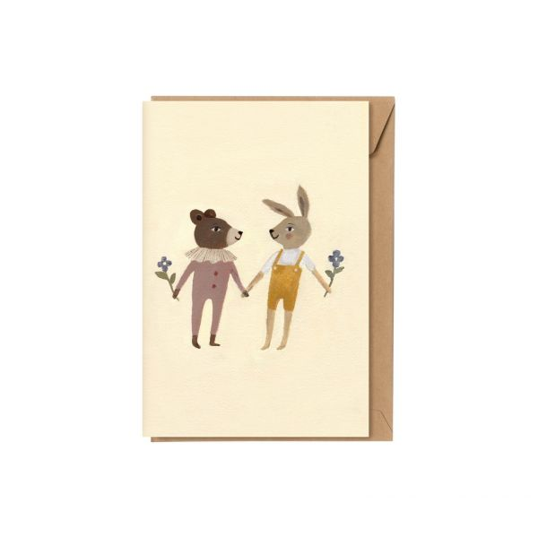 A5 Card / Teddy And Bunny