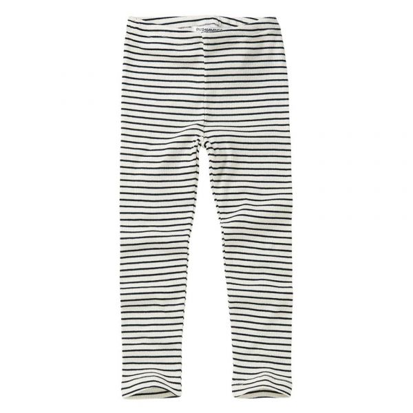 Rib Legging Stripes / White - Black