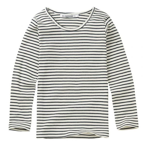 Rib Top Stripes / White - Black