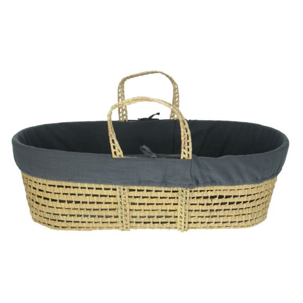 Moses Basket Incl. Covering / Denim