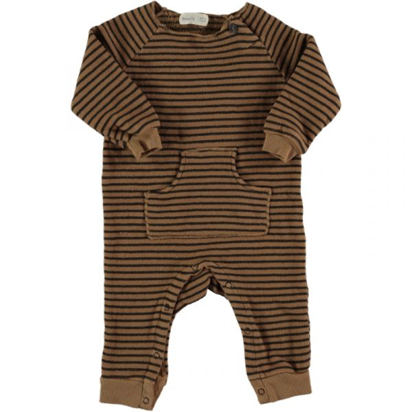 Owl Striped Warm Fleece Plays / Caramel