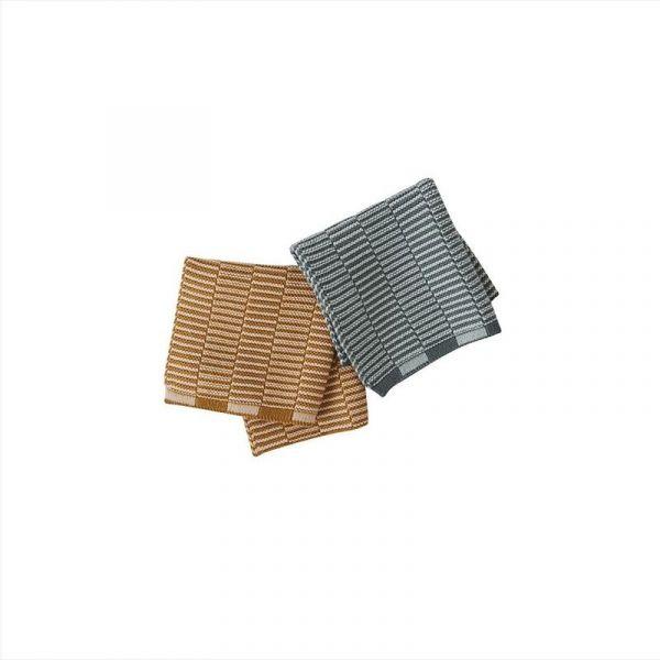 Stringa Dishcloth - 2 Pcs/Set - Caramel / Minty