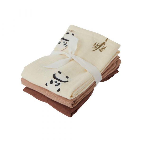 Muslin Square / Panda 3-pack / vanilla
