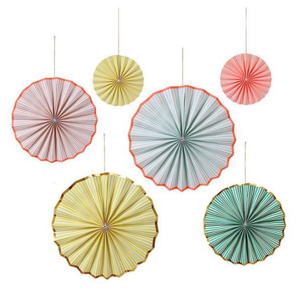 Pastel Stripe Pinwheels