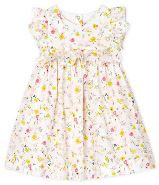 Mouwloos jurkje met bloemetjesprint